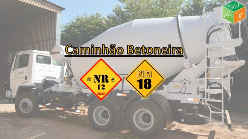 Curso de operador de caminhão betoneira